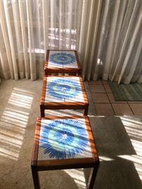 Set of 3 Danish Modern nesting tables-