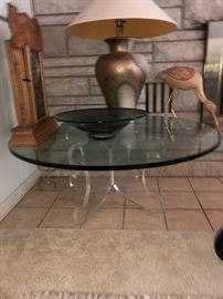 Lucite table - original to owners first home ! We have the PHOTO of the house w it in it!