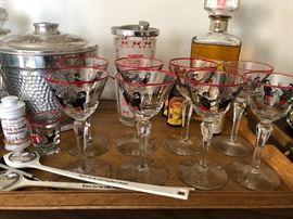 Vintage bar ware galore!!