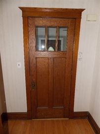 antique entry door, solid oak