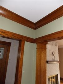 crown molding, fluted door jambs,