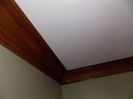 antique solid oak crown molding