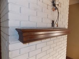 oak mantle antique