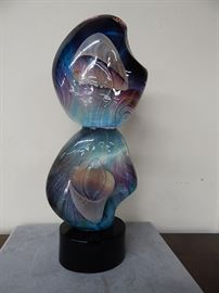 "Dino Rosin, Italy 24"" Glass Sculpture"