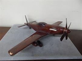 Wood P51 mustang model
