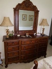 Dresser and mirror. Part of Broyhill Queen Bedroom Suite