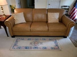 Chateau d'Ax Italian leather sofa. Very clean. No rips or stains.