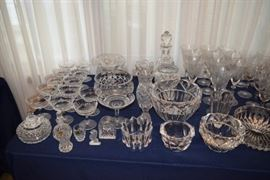 Waterford and Crystal Stemware and Bowls
