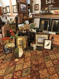 ceramics, rugs