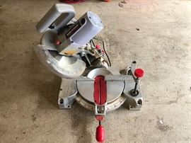 """Task Force 10"""" Compound Miter Circular Saw.   As Is $50"""