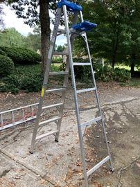 8' Werner Aluminum Step Ladder - $60