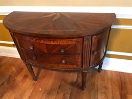 Fine Cherry Wood Demilune cabinet.  Excellent condition,  $40