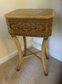 Wood painted sewing box
