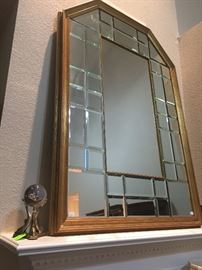 Large Beveled Glass Mirror