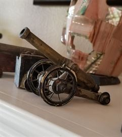 Antique toy cannon collection