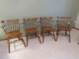 Four Ethan Allen Maple and Birch Chairs