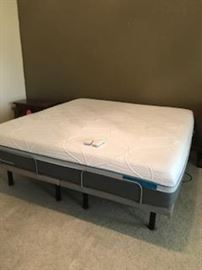 LikeNew King TempurPedic Adjustable Bed and 2 Remotes