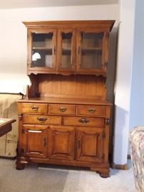 Young Republic Maple China Hutch