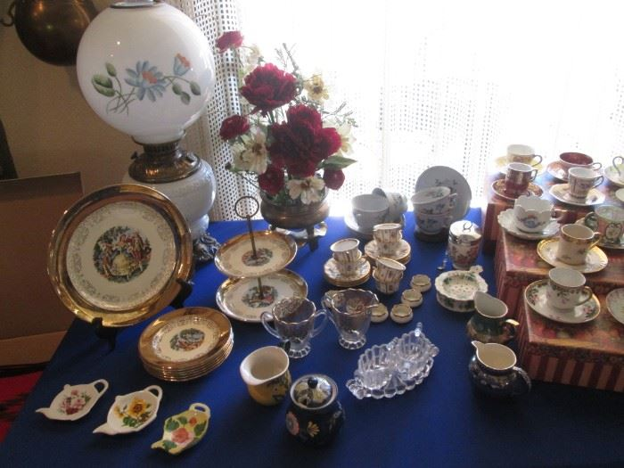 Large and Stunning Array of Porcelain, China, Glass, Silver Plate & Collectibles from England, France, Italy, Portugal, Japan, Ireland, Holland