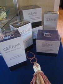 "Oceane Skin Care in ""Blue Pearl"" and ""Black Pearl"""