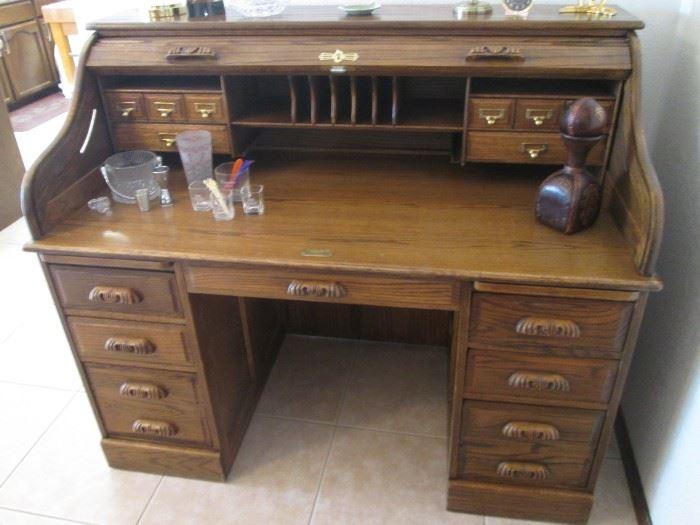 "Roll-Top Desk, 54"" X 30"""
