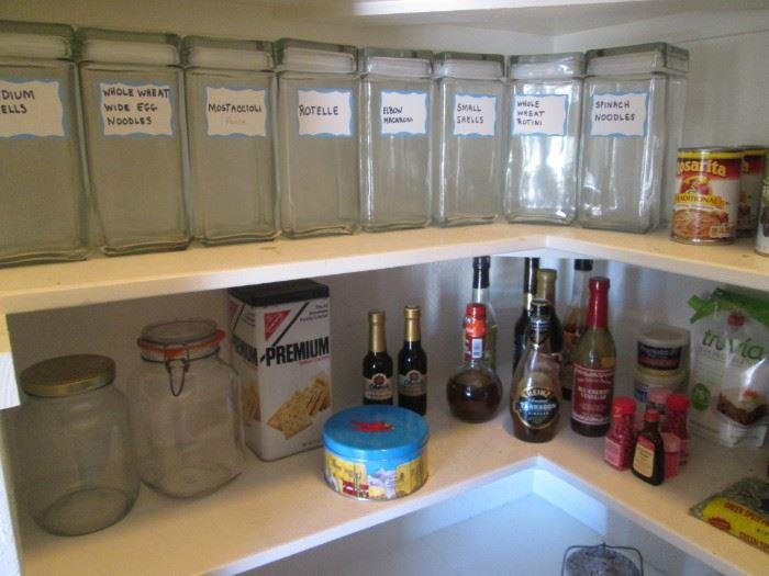 Set of 8 Tall Glass Storage Jars