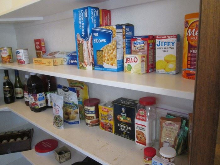 Pantry Food and Spices Selection