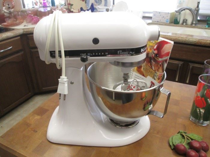 """KitchenAid Classic Plus"" Tilt Head Stand Mixer with Accessories and Bowls"