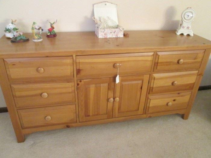 """Farmhouse Pine Dresser by Broyhill, 70"""" X 19"""""""