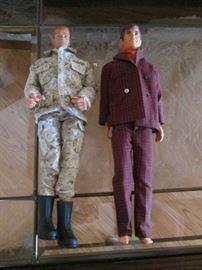 1968 Ken Doll and G. I. Joe Doll