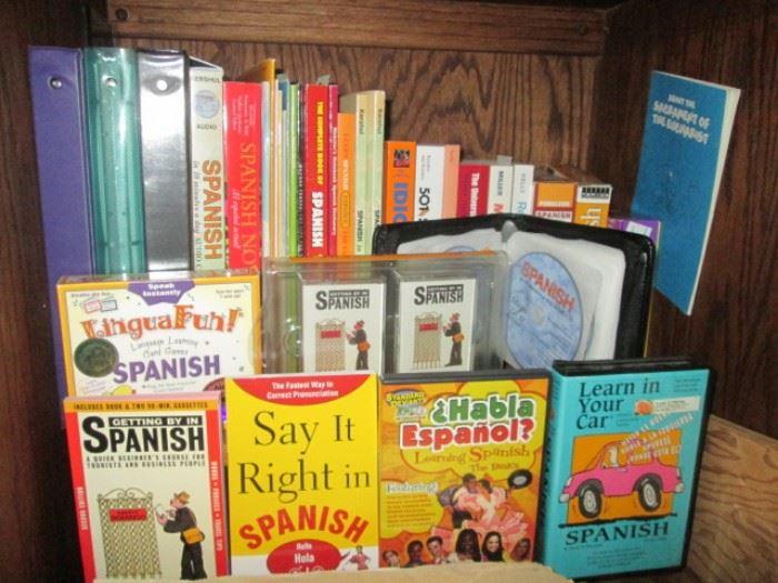 Assortment of Spanish Language Books