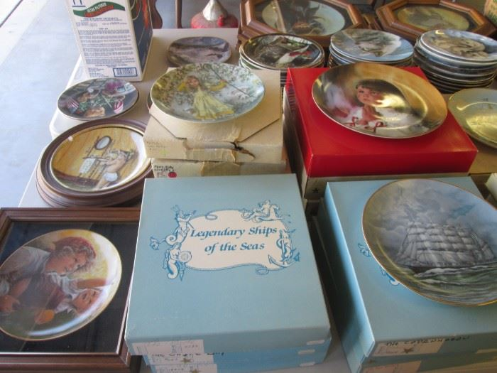 Many, Many Collectible Plates from different Artists doing varied Themes, boxed!