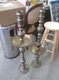Tall Brass Candlesticks