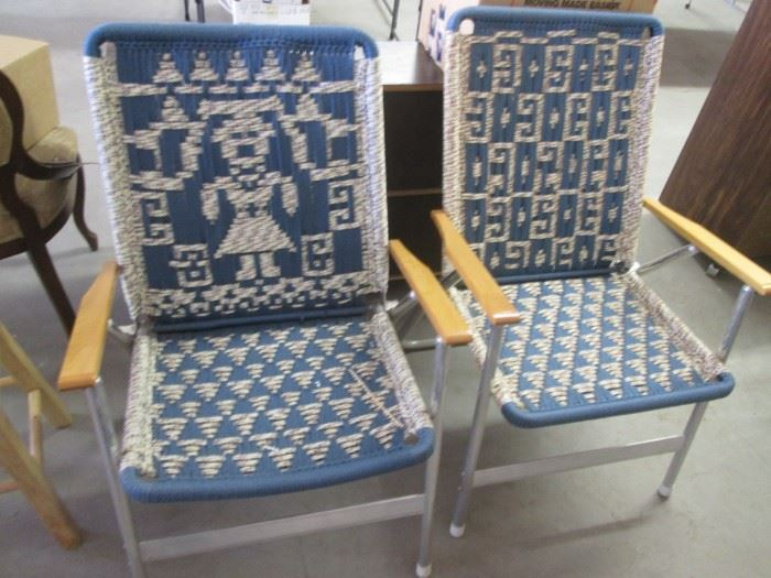 Interesting Patterned Folding Chairs