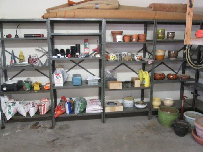 Shelving Units for Sale.  Garden Pots, Soil Products + +