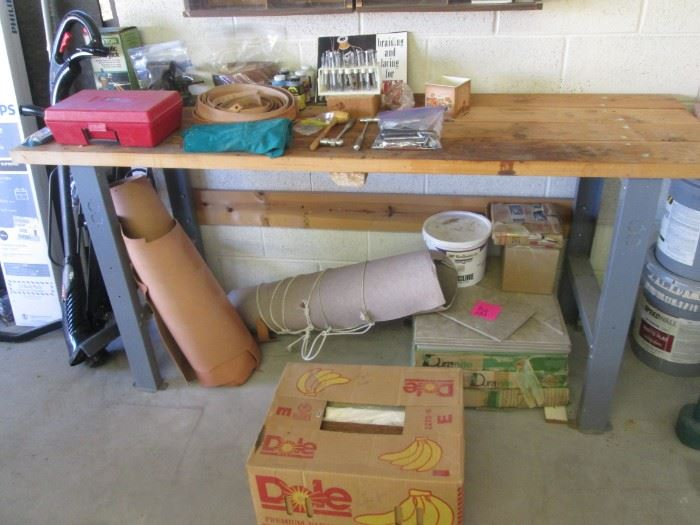 Assorted Tools and Workbench