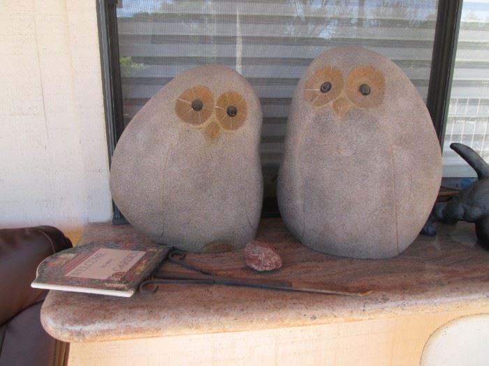 Darling Large Owl Sculptures
