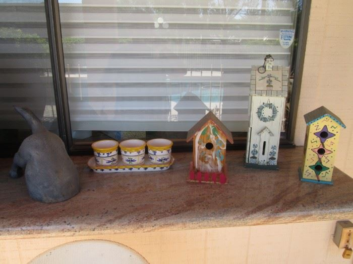 Birdhouses and Other Yard Decor