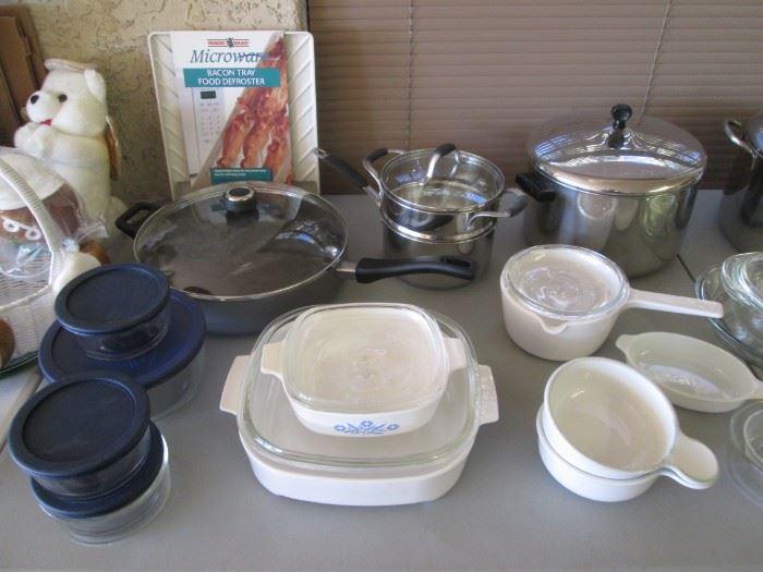 Corning Ware, Pots & Pans