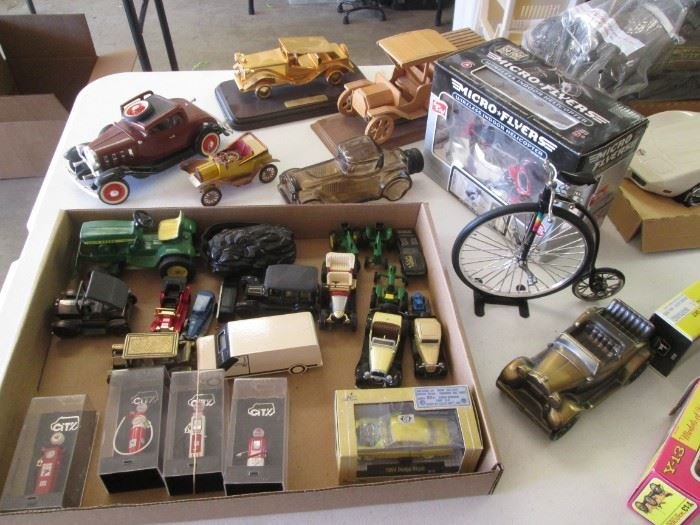 Several Tables of Auto-Themed Collectibles