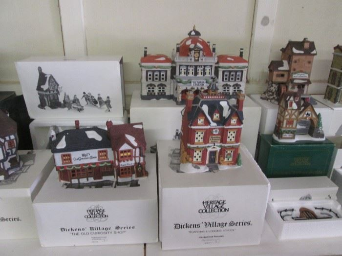 Heritage Village Collection, Dicken's Village Series.  A Lot of Pieces to Choose.