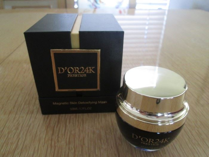 "D'OR24K Skin Care with ""gold"".  Check out their website!"