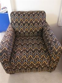 Geometric patterned Occasional Chair
