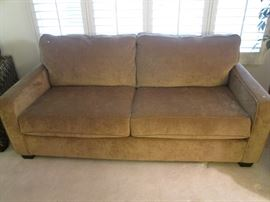 Contemporary style Sofa in brown tone upholstery