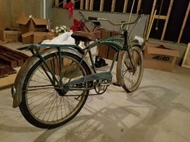 Schwinn Green Panther bicycle early 1950s vintage
