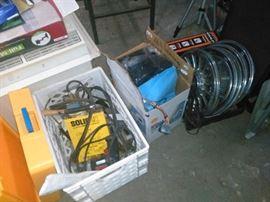 Old Chrome Hub Caps, Power Tools, Car Stereos