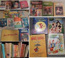 Hard cover fiction, old children's books, older sporting books 8-track tapes and music CDs – Vintage Sheet Music