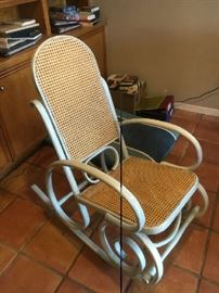 Bentwood rocker with cane