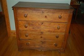 Antique four drawer dresser