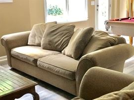 Nearly new sleeper sofa with matching loveseat